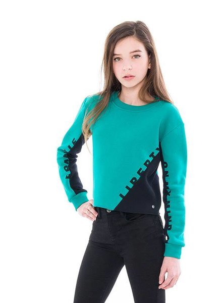 Frankie & Liberty Girls sweatshirt Color: emerald green