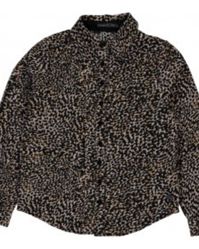 Frankie & Liberty Girls blouse Color: leopard print