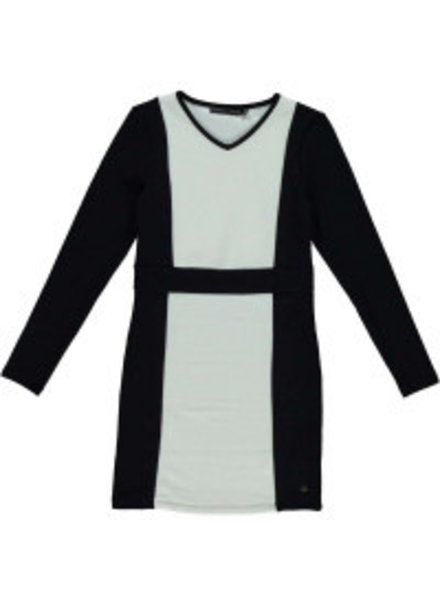 Frankie & Liberty Girls dress Glow Color: black/ off white