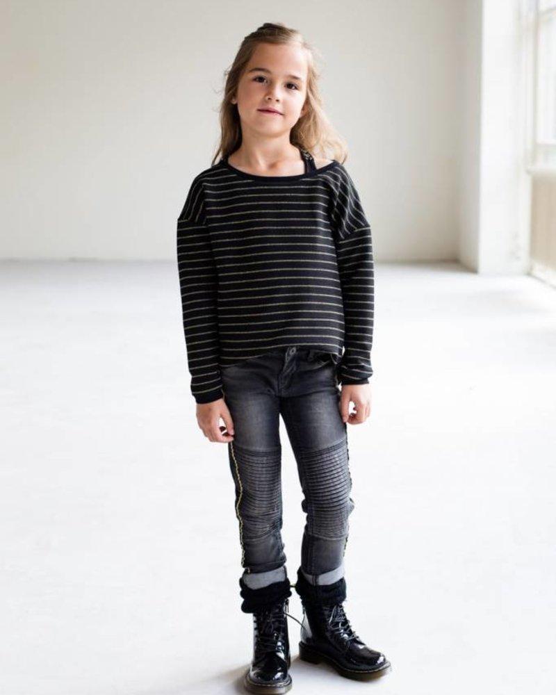 Levv Labels Girls longsleeve Anabel Color: black stripe