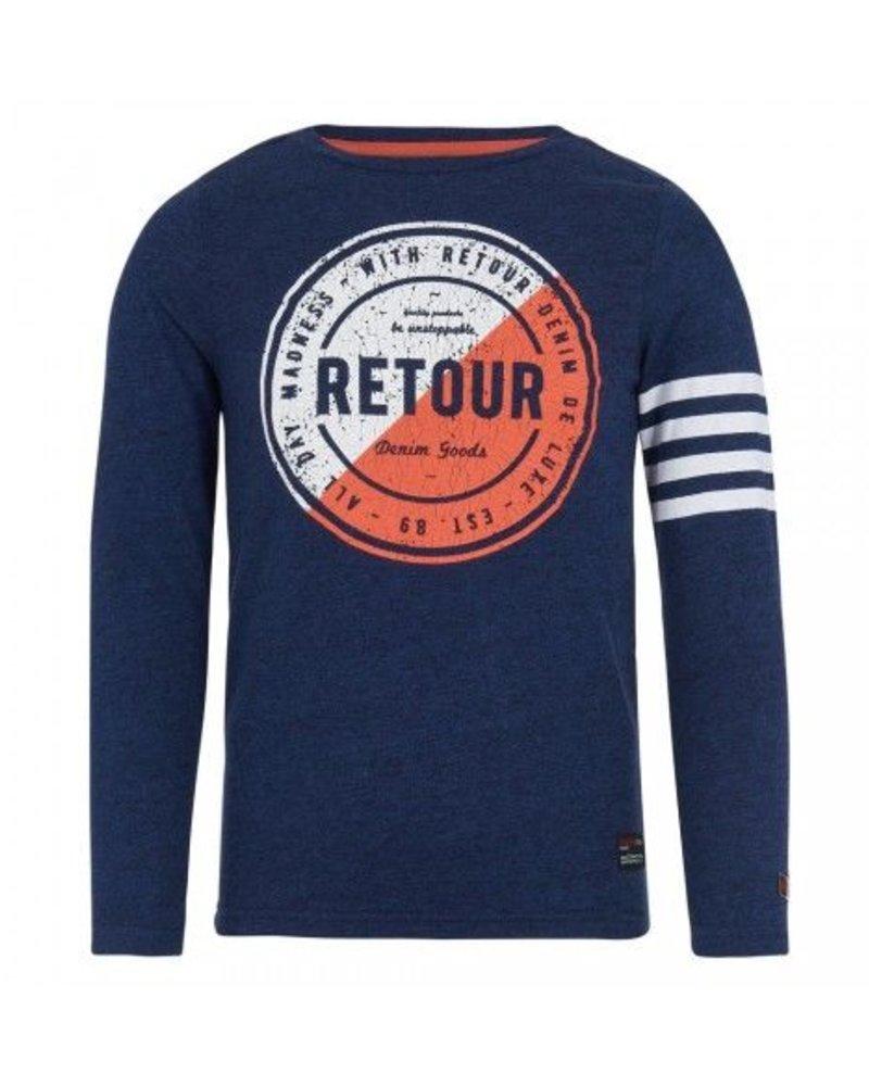 Retour Boys Shirt Floyd Color: dark navy