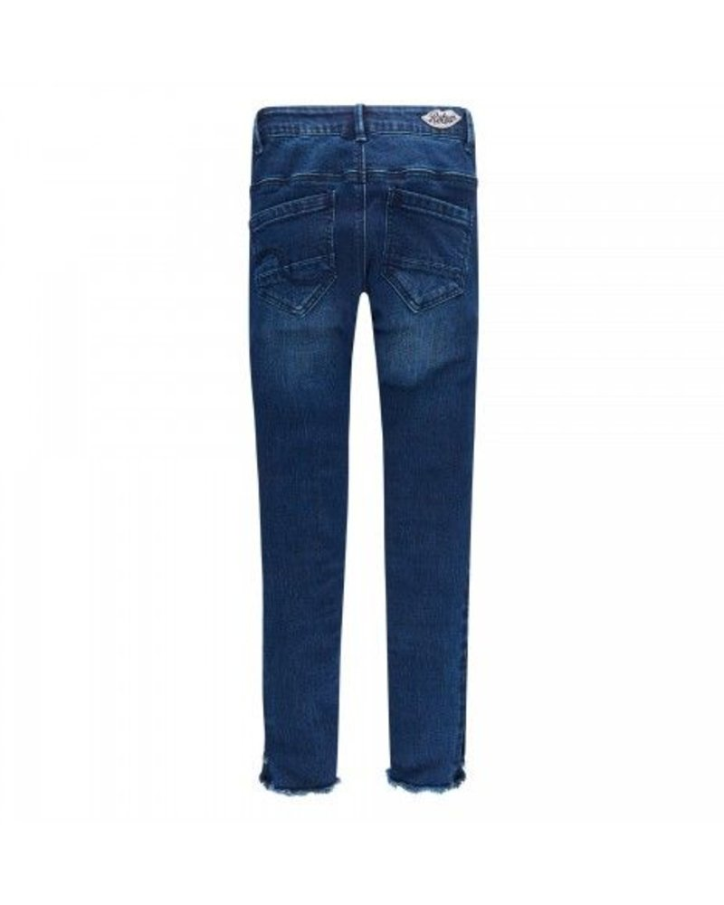 Retour Girls Jeans met zijbies Color: dark denim blue