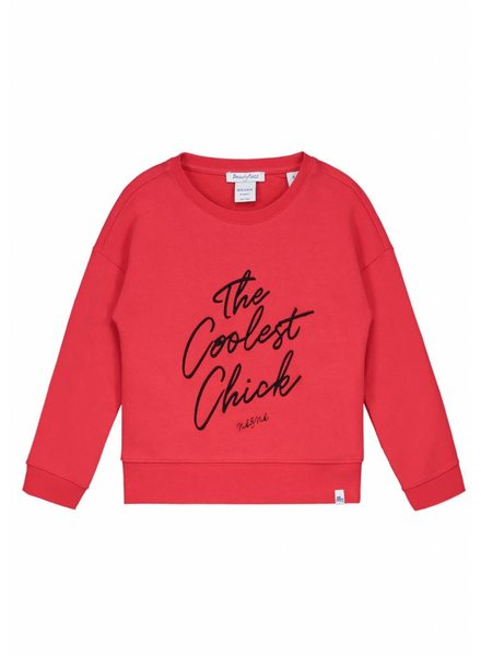 NIK & NIK Girls sweater Coolest Color: soft red