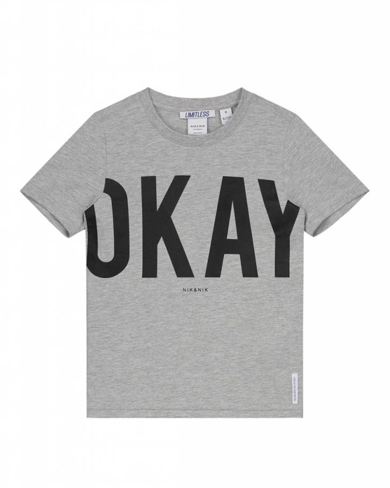 NIK & NIK Boys T.shirt Okay Color: light grey melange