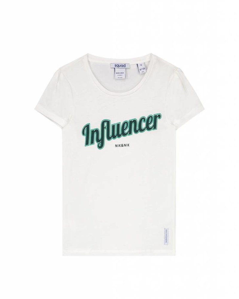 NIK & NIK Girls T.shirt influencer Color: off white
