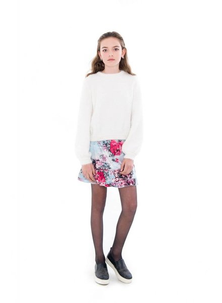 Frankie & Liberty Girls sweater Hailey Color: white