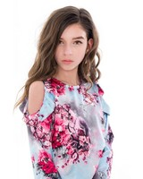Frankie & Liberty Girls blouse Honey Color: flower print