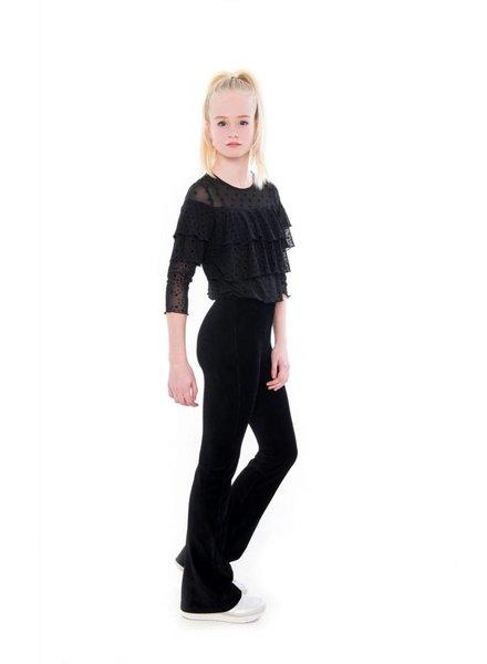Frankie & Liberty Girls Blouse Hazel Color: black