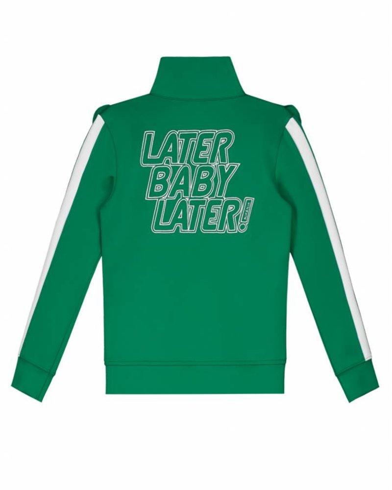 NIK & NIK Girls Track jacket Rabi Color: jade green