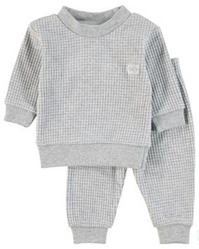 Feetje Pyjama wafel Color: grijs melange