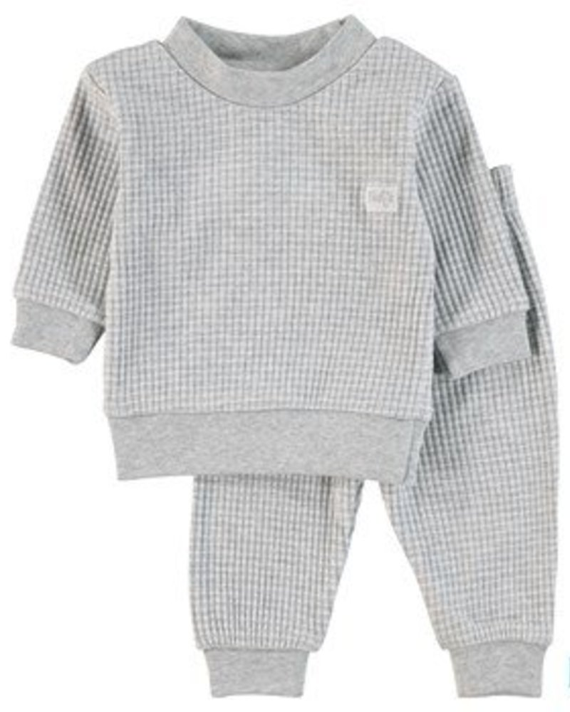 Feetje Pyjama Wafel Color: grey melange