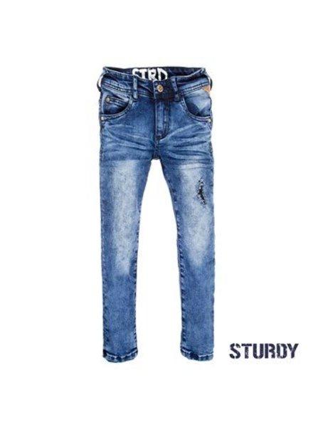 Sturdy Boys Power stretched destroyed denim Color: blue denim