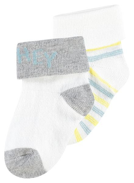 Noppies U socks 2 pack parcerville Color: blanc de blanc