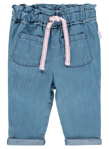 Noppies Girls pants comfort Plainedge Color: light blue wash