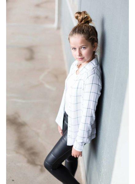 Levv Labels Girls Blouse Benedicte Color: off white grid