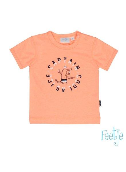 Feetje T-shirt korte mouw neon oranje