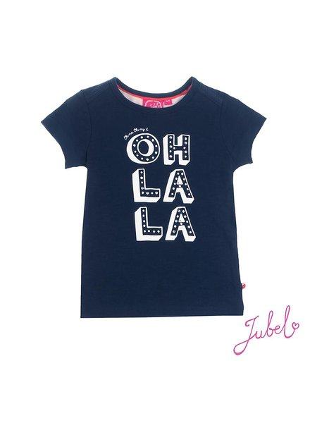 Jubel T-shirt Oh la la marine