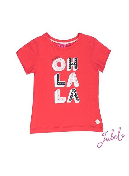 Jubel T-shirt Oh la la rood