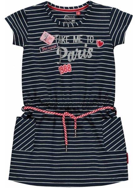 Quapi kidswear  Dress Samira navy stripe