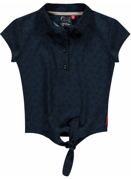 Quapi kidswear  Voile blouse Sita navy leopard