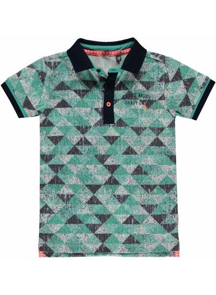 Quapi kidswear  Polo Sherman ocean green triangle