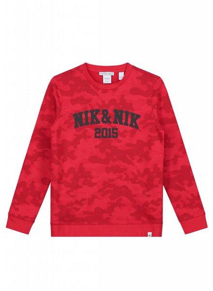 NIK & NIK Levon camo sweater