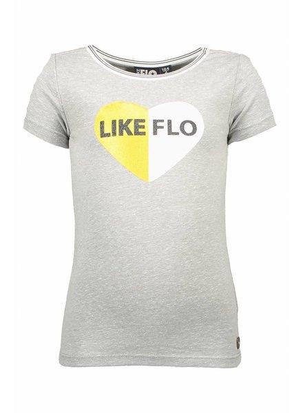 Like Flo Flo girls jersey ss tee - chalk