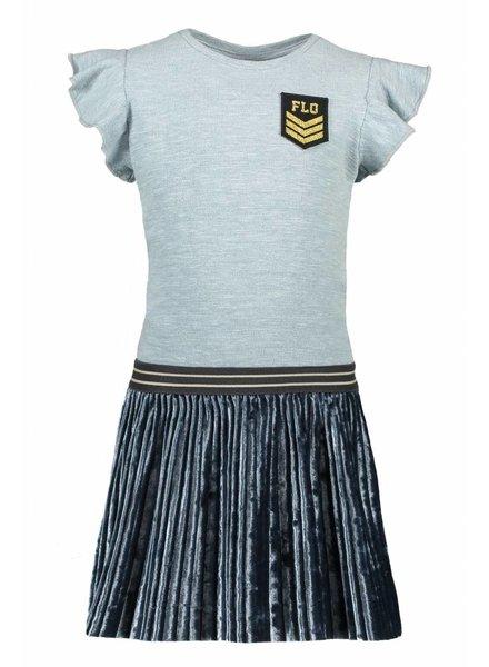 Like Flo Flo girls slub jersey ruffle dress with plisse skirt