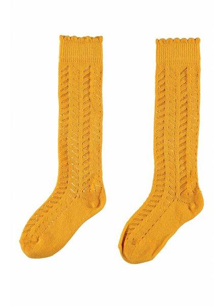 Like Flo Flo girls knee sock - oker