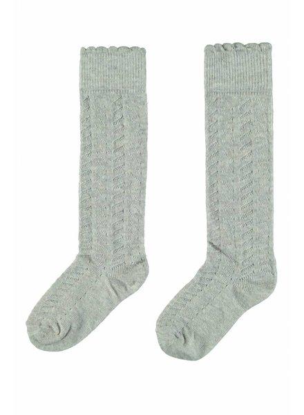 Like Flo Flo girls knee sock - grey melee