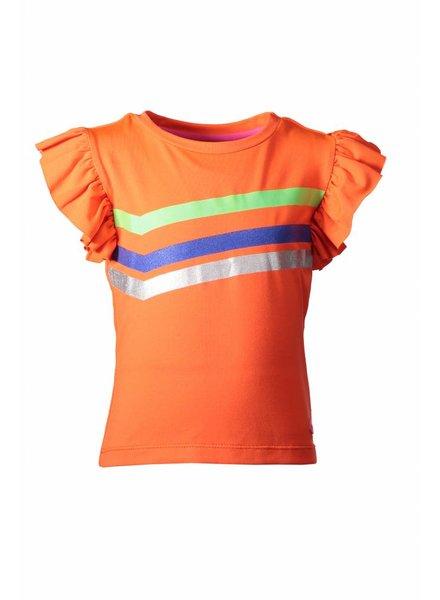 Kidz Art T-shirt ruffle stripe print