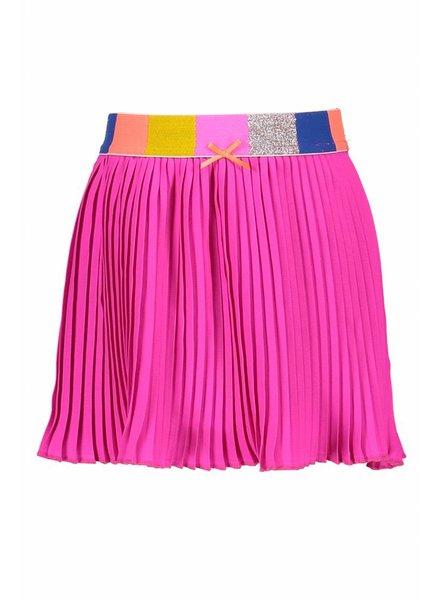 Kidz Art Satin pleated skirt - neon fuchsia