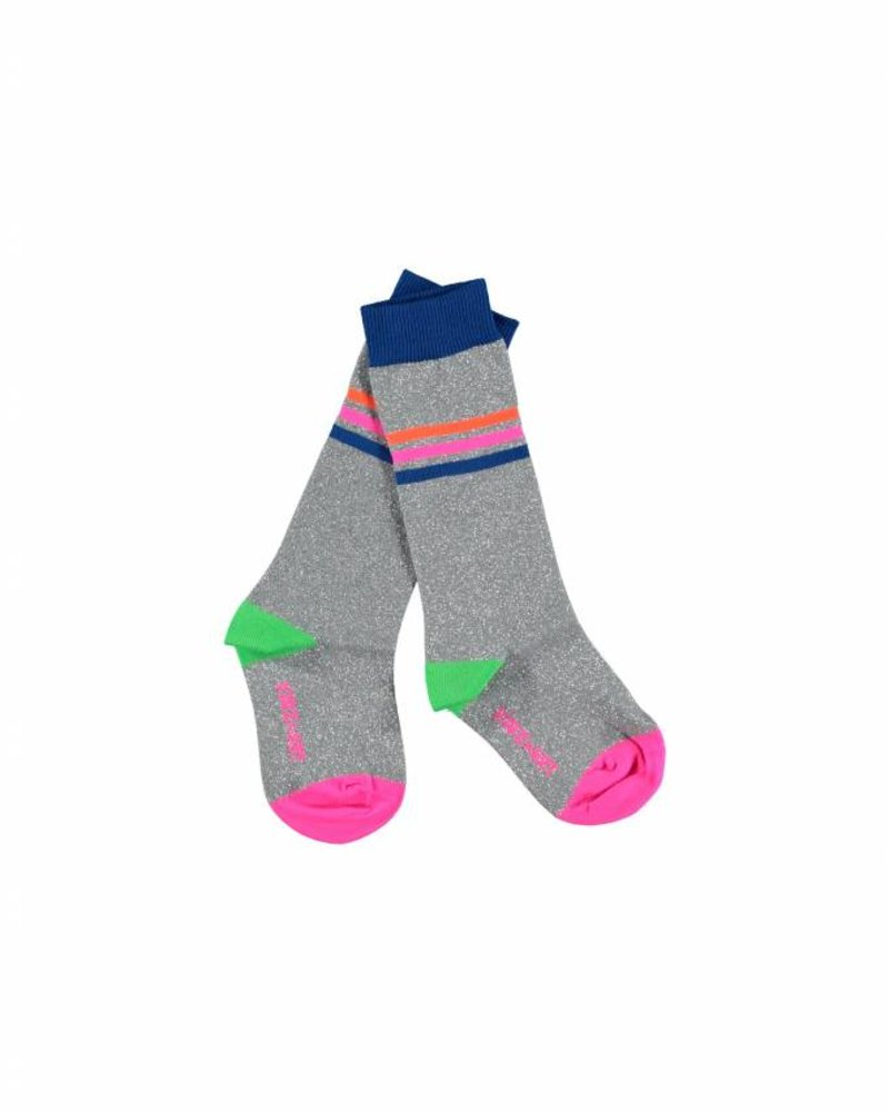Kidz Art Knee high socks lurex silver