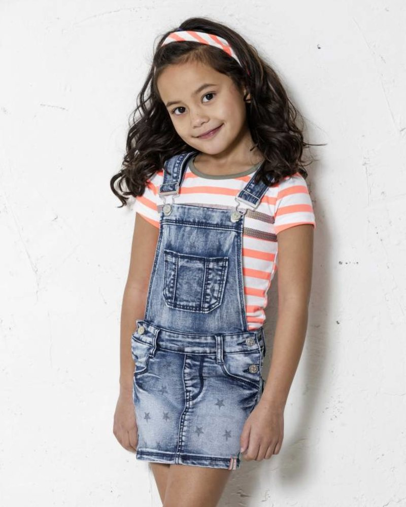 B.nosy Girls dungaree with star print