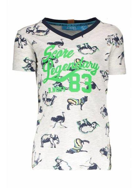 B.nosy Boys africa print v-neck shirt