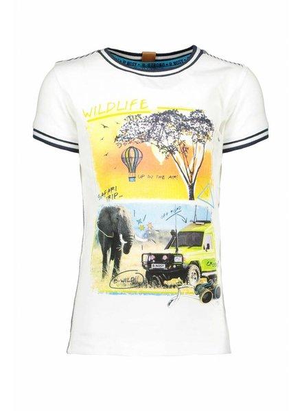 B.nosy Boys safari shirt with rib at neck