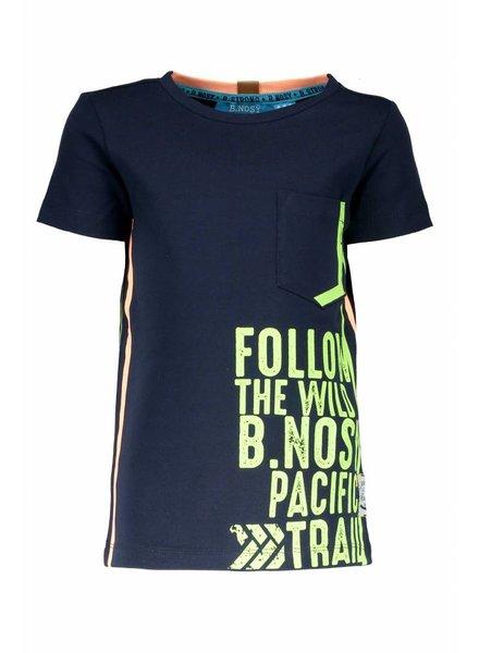 B.nosy Boys shirt with print on side seam