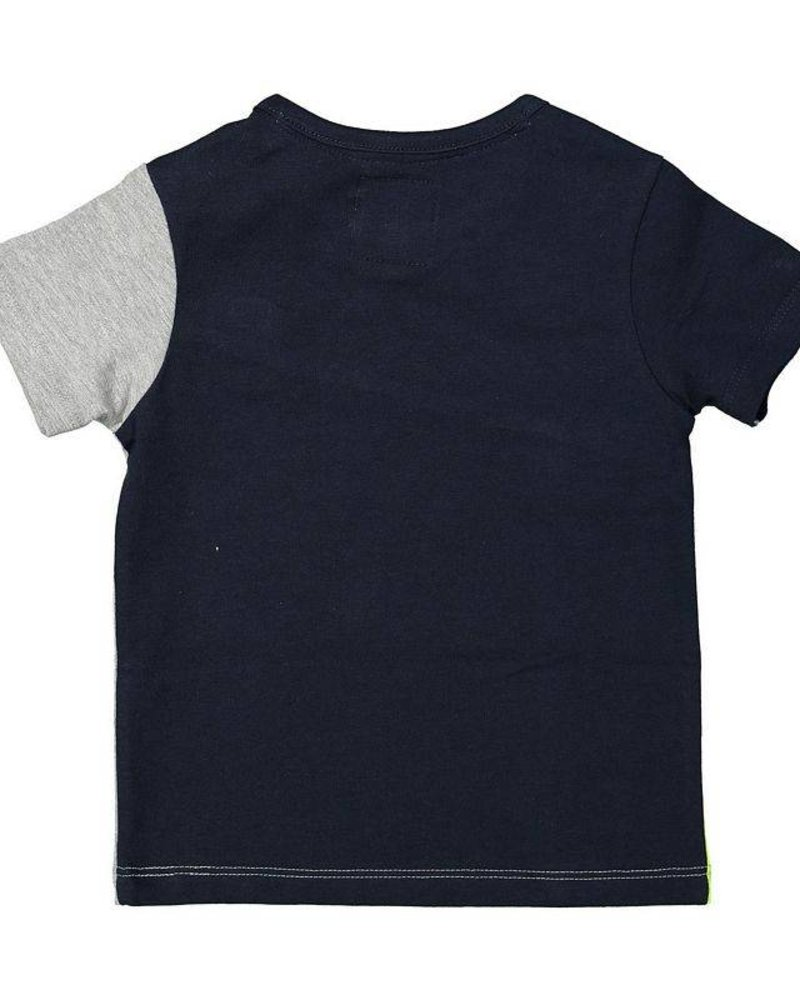Koko Noko T-shirt navy - grey - yellow