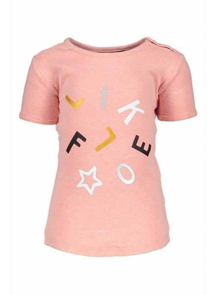 Like Flo Flo baby girls tee old pink