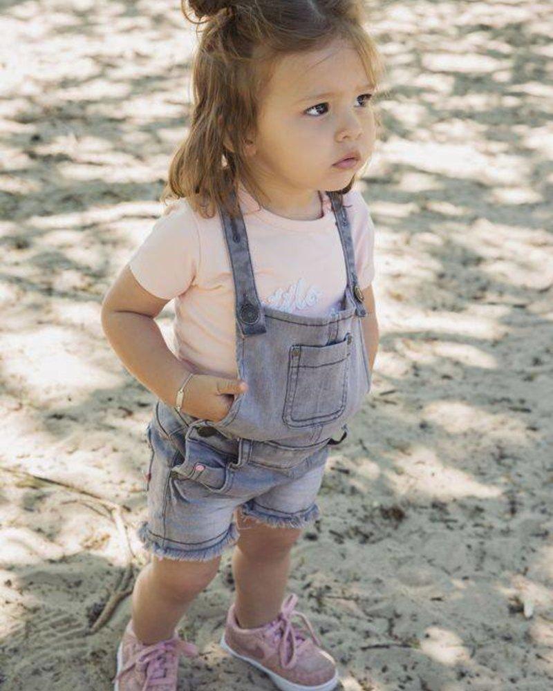 Koko Noko Salopette shorts grey denim