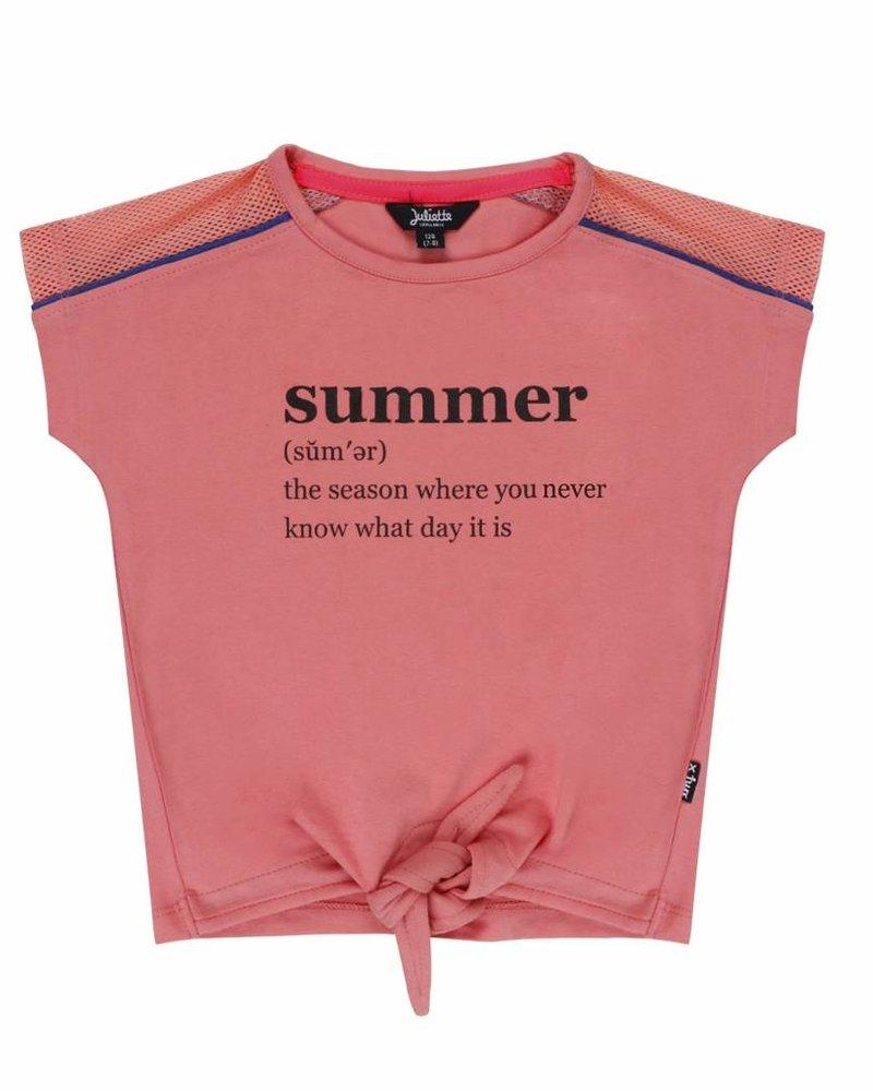 Little Miss Juliette Shirt Summer pink