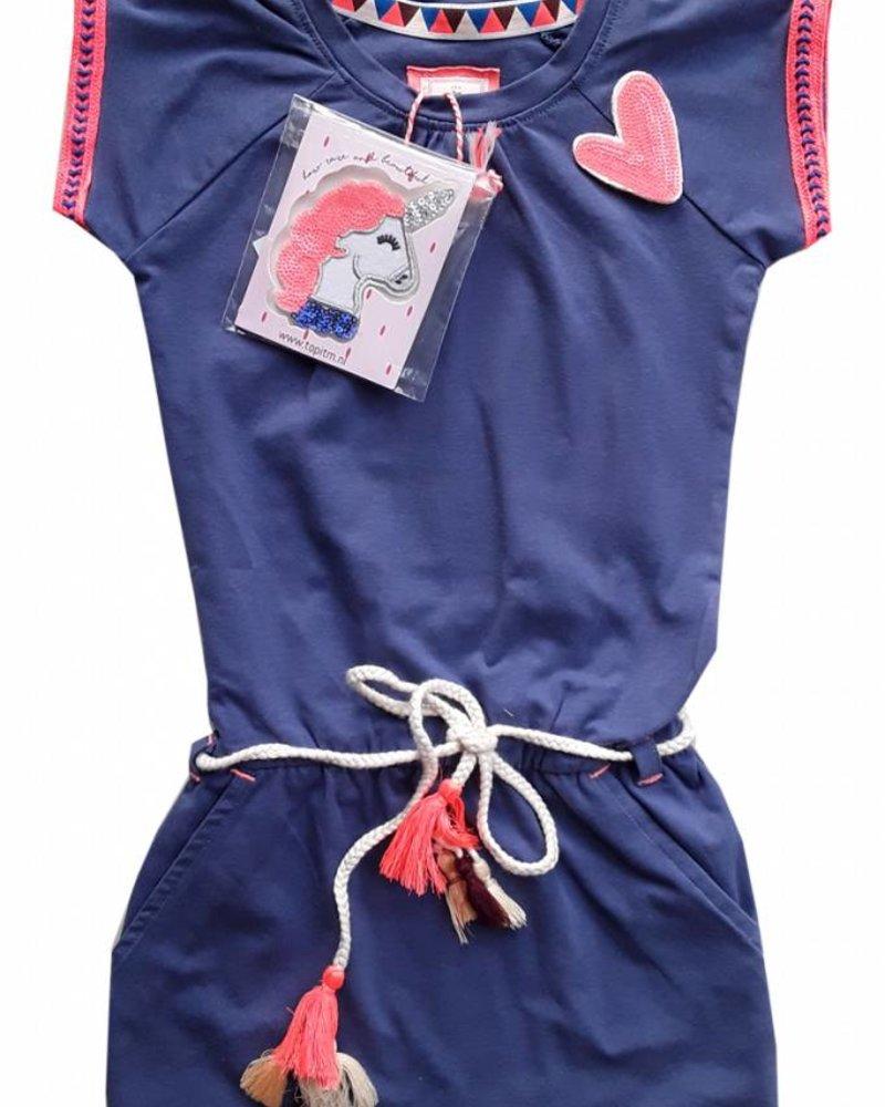 TOPitm Dress Karen - jeans blue