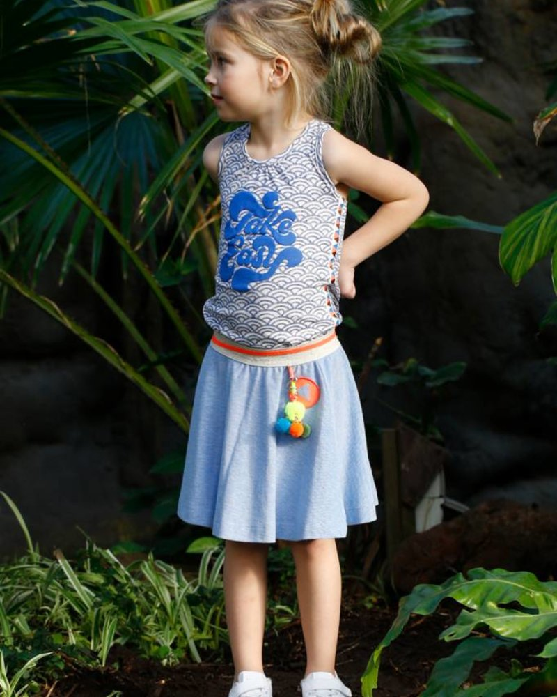 TOPitm Skirt Carline - pique blue