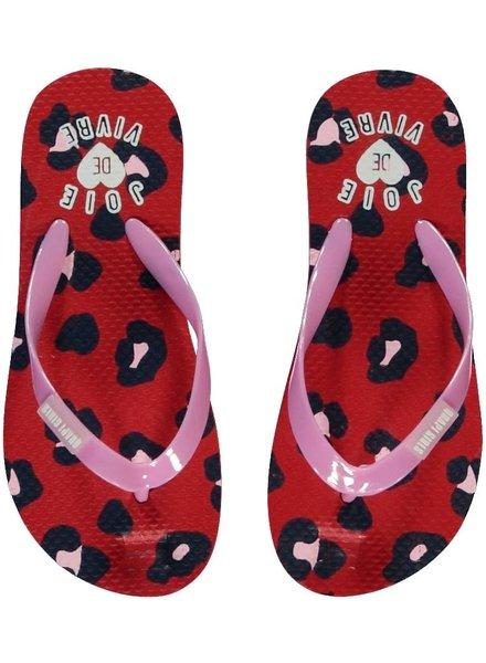 Quapi kidswear  Flipflops Saavi - rouge red leopard