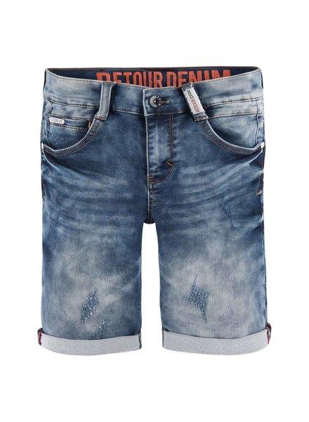 Retour Short denim Loek - medium blue
