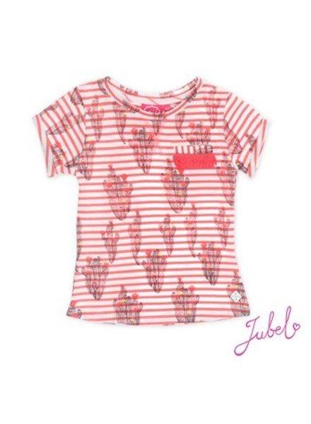 Jubel T-shirt streep/aop