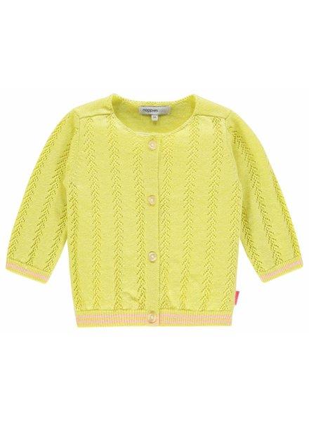 Noppies Girls vest Solvay Color: limelight