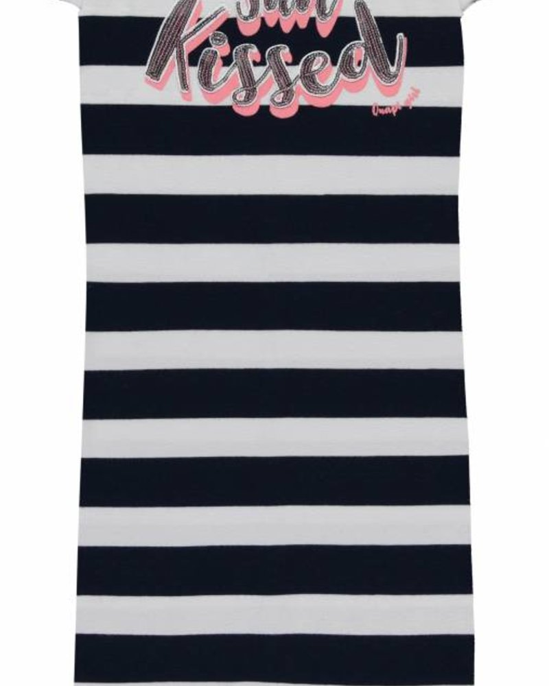 Quapi kidswear  Dress Simone - navy block stripe