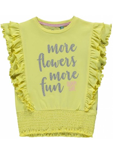 Quapi kidswear  Shirt Summer - soft yellow