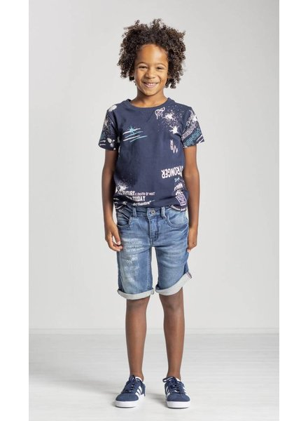 Quapi kidswear  Shirt Saim - navy text
